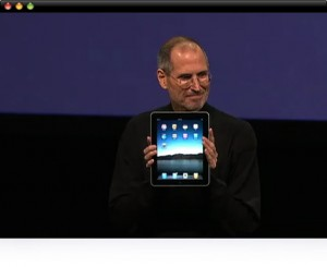 steve jobs launch iPad himself